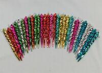 Vintage Metallic Icicle Ornaments Spiral Plastic Lightweight Unbreakable Lot