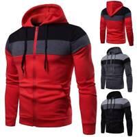 Men's Hoodie Warm Hooded Sweatshirt Coat Slim Fit Jacket Outwear Jumper Sweater