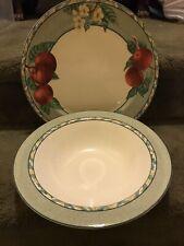 """2 Serving Pieces Victoria Beale L'Amour Round Serving Bowl & 12"""" Chop plate"""