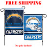 "Los Angeles Chargers Logo Garden Outdoor Flag Double Sides 12x18"" NFL 2019 NEW"