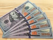 NEW DEAL 50 PIECES UNREAL USA 100 DOLLARS INVALID BEST FAKE PROP PAPER MONEY UNC