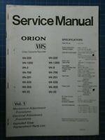 Orion VHS Adjustment Vol.1 B27251