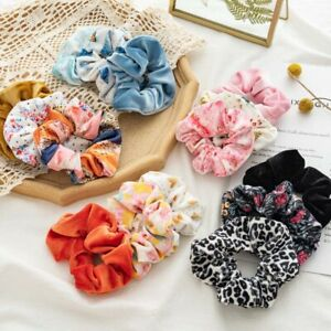 3x Velvet Scrunchies Set Women Elastic Hair Band Rings Ponytail Holder Ties Rope