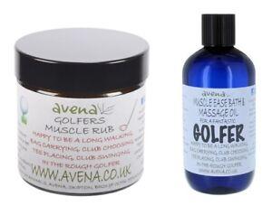 Golf Muscle Rub Bath Massage Oil Xmas Birthday Novelty Gift Set Stocking Filler