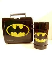 old Batman plastic lunchbox & thermos, copyright 1964 DC Comics; made in Taiwan