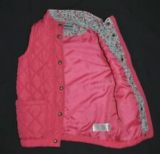 Joules Girls Gilet Bodywarmer Sleeveless Quilted Jacket 9-10 Years Pink Padded
