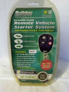 Bulldog Security Remote Vehicle Starter System  w/ Keyless Entry & Trunk RS102E