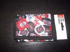Vans Authentic Slipped Labels OTW Tri-Fold Unisex Wallet Black White Red NWT