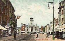 Postcard South Street Worthing Sussex Early Dated 1906 Colour RP k1