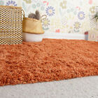 Small Large Terracotta Shaggy Rugs Thick Deep Living Room Rug Long Shaggy Runner