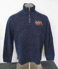 Polo Ralph Lauren 1/2 Zip Sweater Size L Navy Blue Cotton Big Pony Long Sleeve