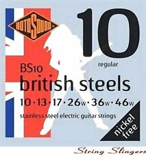 Rotosound BS10 'British Steel' Stainless Steel Electric strings 10-46