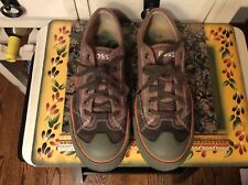 FOSSIL Mens Brown Suede -fabric Casual Lace Up Oxford Sneakers Shoes Sz 8