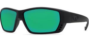 COSTA DEL MAR Tuna Alley 580 GLASS Brown / Copper Green Mirror, Blackout
