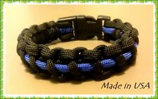 550 Paracord Survival Tactical Military Bracelet Police Thin Blue Line Pick Size