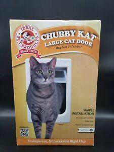 """IDEAL Chubby Kat Large Cat Door 7.5"""" x 10.5"""" Rigid Flap Pet Door"""