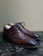 SAKS FIFTH AVENUE MENS BROWN LEATHER WING TIP SHOE SZ 8.5 M By MAGNANNI