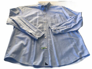 UNTUCKit 2XL Baby Blue Long Sleeve Button Front Semi Heavy Cotton Sleeve Shirt