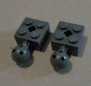 LEGO 57909  - 4497253  Brick 2X2 w Ball Joint Dark Stone Grey x2**