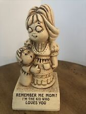 Paula W. 174 Remember Me Mom? I'm The Kid Who Loves You Sillisculpt 1970 Vtg