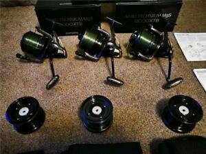 Shimano Aero Technium 12000 XTB MgS x 3 Carp Fishing Reels - superb condition