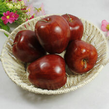 10 artificial fruit faux  RED APPLE fake food kitchen office home party decor
