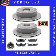 Rear Brake Rotors Metallic Pads Fit Ford F-150 2004 to 2011 Mark LT 2006 - 2008