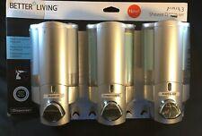 Better Living AVIVA 3 Chamber Shower Gel Conditioner Shampoo Dispenser    0882
