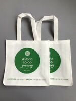 ASTORIA CO-OP GROCERY Set of 2 Grocery Tote Eco Bags NWOT