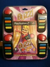 Buzz! The Mega Quiz + Buzzers Playstation 2 PS2 PAL **SEALED**