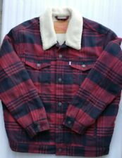 Levis Trucker Buffalo plaid Button Sherpa Lined Jacket Men XXL