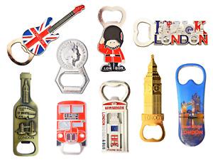 Famous London Skyline Mix fridge Magnet Bottle Openers - Set of 9