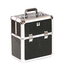Urbanity nail polish storage case beauty box hard vanity black croc