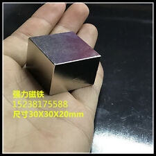 Huge NEODYMIUM block MAGNET! N52 grade rare earth magnet. New SUPER magnet! 30mm