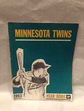 Minnesota Twins 1963 Baseball Yearbook magazine Jim Kaat Harmon Killebrew