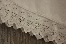 Antique French white cotton bloomers woman's clothing lace broderie Anglaise