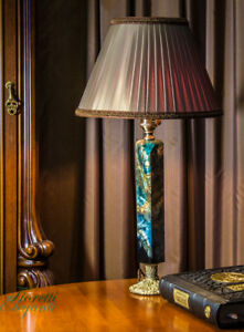 """Unique desk lamp """"Azur-Malachite in Empire-style from palace"""", antique style"""