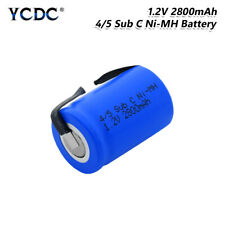 4/5SC SC Sub C Battery 1.2V 2800mAh Rechargeable Ni-MH Cell With Welding Tabs 5