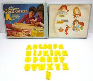 VTG 80s Hallmark Alpha-Bites Alphabet Cookie Cutters Cake Decoration Letters