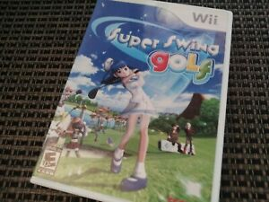 Super Swing Golf (Nintendo Wii Video Game) Complete & Tested