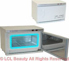2 in 1 Hot Towel Cabi Warmer Cabinet UV Sterilizer Spa Beauty Salon Equipment