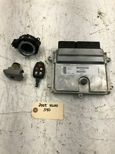 04-07 VOLVO S40 V50 V70 ENGINE COMPUTER IMMOBILIZER DME W/ KEY 2.4 5CYL OEM