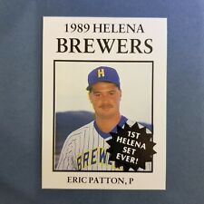 1989 Sports Pro HELENA Brewers #20 ERIC PATTON Mission Vejo CALIFORNIA
