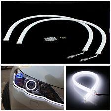 2 X 12V 60cm White LED Flexible Soft Tube Headlight Strip DRL Daytime Run Lights