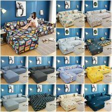 L Shape Stretch Sofa Covers Slipcover Corner Couch Cover Elastic Thin Fabric