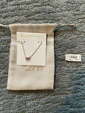 Kendra Scott Jayde Pendant Necklace Lavender Kyocera Opal