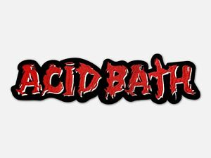 Acid Bath  Embroidered Backpatch.