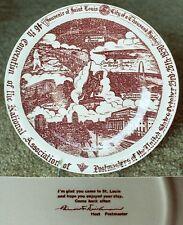 Vernon Kilns St Louis Missouri Post Master 1950 convention souvenir plate-NR