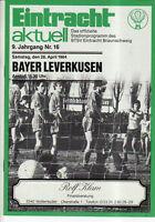 BL 83/84 Eintracht Braunschweig - Bayer 04 Leverkusen