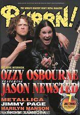 Burrn! Heavy Metal Magazine July 2003 Japan Ozzy Osbourne Metallica Voivod
